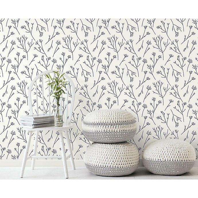 Alternate image 1 for RoomMates® Twigs Peel & Stick Wallpaper