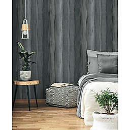 RoomMates® Making Waves Peel & Stick Wallpaper in Grey/Black