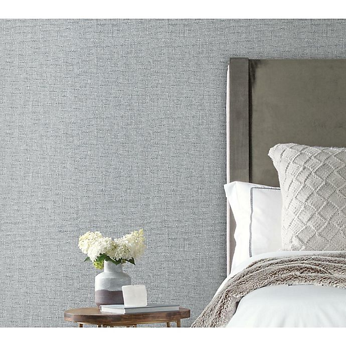 Alternate image 1 for RoomMates® Faux Grasscloth Peel & Stick Wallpaper