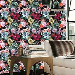 RoomMates® Vintage Floral Blooms Peel & Stick Wallpaper in Red/Blue