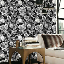 RoomMates® Vintage Floral Blooms Peel & Stick Wallpaper in Black/White