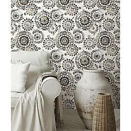 RoomMates® Bohemian Medallion Peel & Stick Wallpaper in Black/White