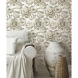 RoomMates® Bohemian Medallion Peel & Stick Wallpaper in Grey/Taupe