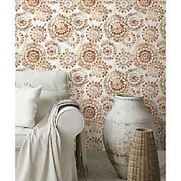 RoomMates® Bohemian Medallion Peel & Stick Wallpaper in Orange/White