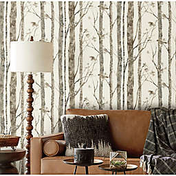 RoomMates® Trees Peel & Stick Wallpaper in Brown/Taupe