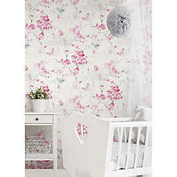 RoomMates® Spring Cherry Blossoms Peel & Stick Wallpaper in Pink/White