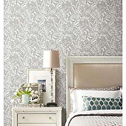 RoomMates® Vintage Batik Jungle Peel & Stick Wallpaper in Grey/White