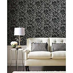 RoomMates® Vintage Batik Jungle Peel & Stick Wallpaper in Black/Grey