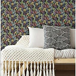 RoomMates® Watercolor Tropics Peel & Stick Wallpaper in Black/Yellow