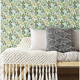 RoomMates® Watercolor Tropics Peel & Stick Wallpaper in Green/White