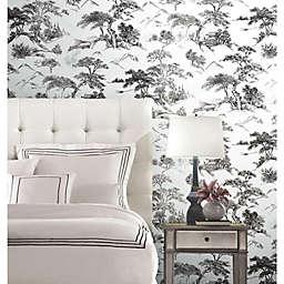 RoomMates® Oriental Toile Peel & Stick Wallpaper in Black/White