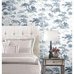 RoomMates® Oriental Toile Peel & Stick Wallpaper in Blue/White
