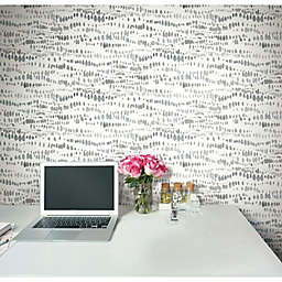 RoomMates® Dotted Line Peel & Stick Wallpaper in Grey/White