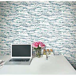 RoomMates® Dotted Line Peel & Stick Wallpaper in Blue/White