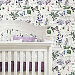 RoomMates® Woodland Sketch Peel & Stick Wallpaper in Purple/White
