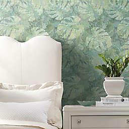 RoomMates® Jungle Leaf Canopy Peel & Stick Wallpaper in Green/Blue