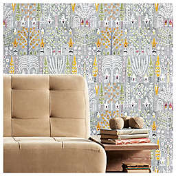 RoomMates® Persian Ikat Peel & Stick Wallpaper in Grey/White