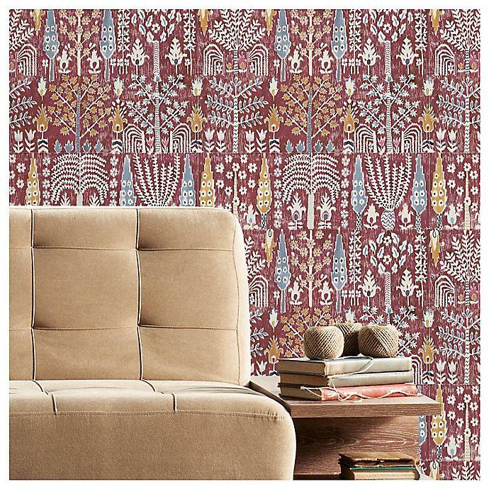 Alternate image 1 for RoomMates® Persian Ikat Peel & Stick Wallpaper in Red/Yellow