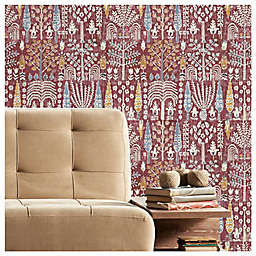 RoomMates® Persian Ikat Peel & Stick Wallpaper in Red/Yellow