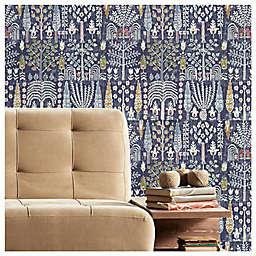 RoomMates® Persian Ikat Peel & Stick Wallpaper in Blue/Yellow