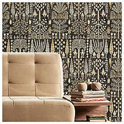 RoomMates® Persian Ikat Peel & Stick Wallpaper in Black/Yellow