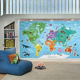 RoomMates® World Map Mural Peel & Stick Wallpaper