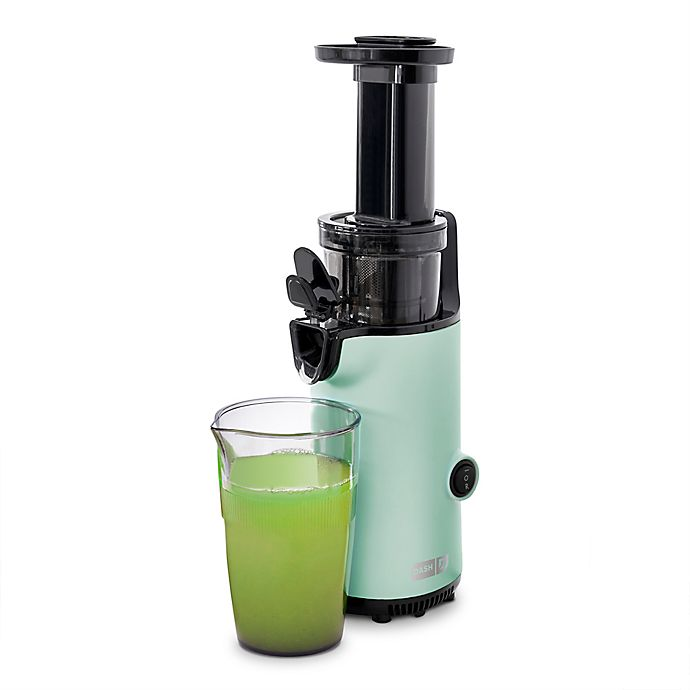 Alternate image 1 for Dash® Compact Cold-Press Power Juicer in Aqua