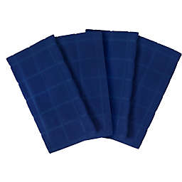 Our Table™ Everyday Solid Kitchen Towel in Blue (Set of 4)
