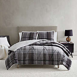 UGG® Avery 3-Piece Reversible Full/Queen Comforter Set in Mole Plaid