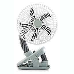 O2COOL® 4-Inch Portable Stroller Clip Fan in Grey