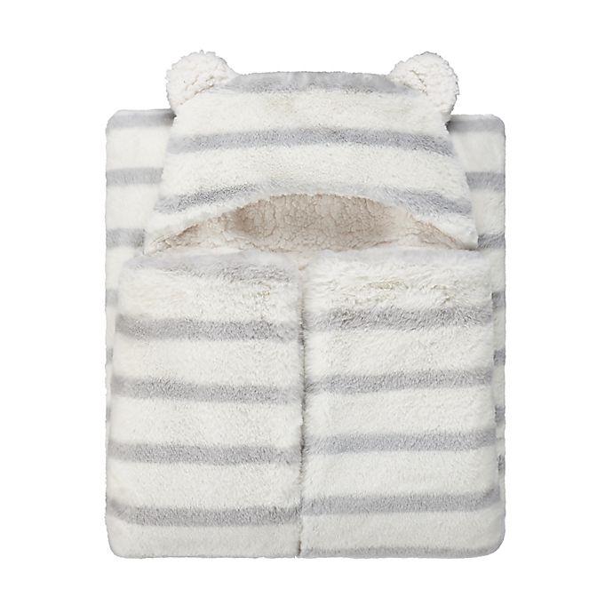 Alternate image 1 for UGG® Polar Striped Hooded Throw Blanket