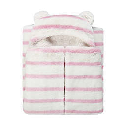 UGG® Polar Striped Hooded Throw Blanket in Pink