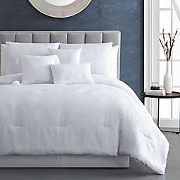 Beatrice Home Fashions Madison Jacquard 7-Piece Queen Comforter Set in White