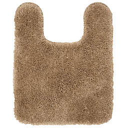 """Nestwell™ Recycled Polyester 20"""" x 24"""" Contour Bath Rug in Brown"""