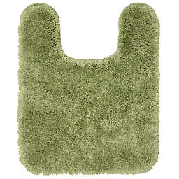 """Nestwell™ Recycled Polyester 20"""" x 24"""" Contour Bath Rug in Olive Green"""