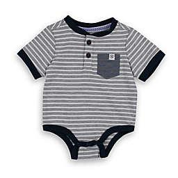 Sovereign Code® Stripe Bodysuit in Grey/Navy