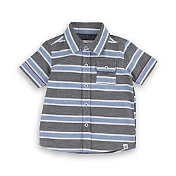 Sovereign Code® Stripe Short-Sleeve Button-Up Shirt in Blue/Grey