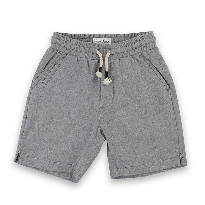 Alternate image 1 for Sovereign Code® Size 0-3M Front Pocket Shorts in Grey