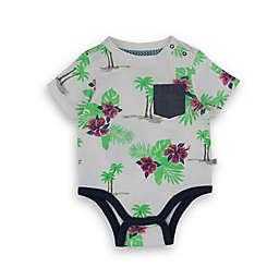 Sovereign Code® Floral Palm Tree Short Sleeve Bodysuit