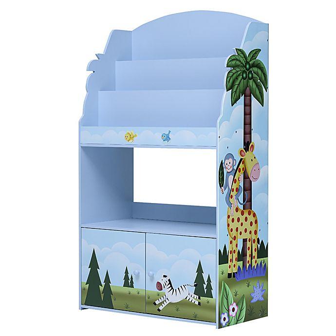 Alternate image 1 for Fantasy Fields Sunny Safari 3-Tier Bookshelf in Blue