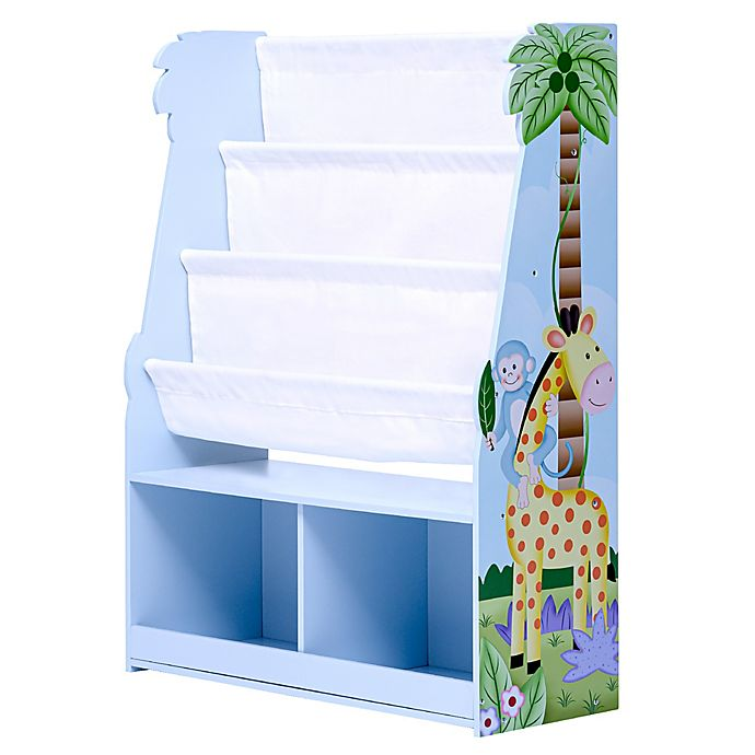 Alternate image 1 for Fantasy Fields Sunny Safari Bookshelf with Storage Drawer in Blue/White