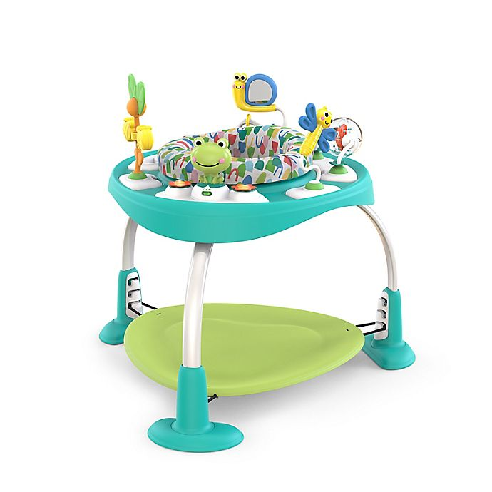 Alternate image 1 for Bright Starts™ BounceBounceBaby 2-in-1 Activity Jumper & Table