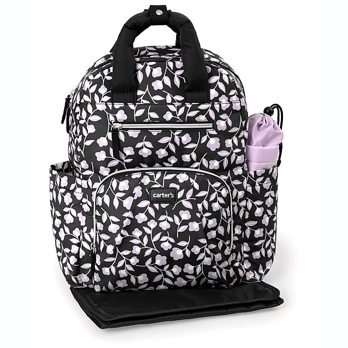 Alternate image 1 for carter's® Out and About Diaper Backpack in Lavender