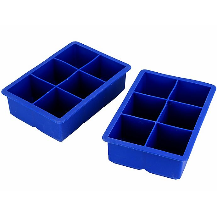 Alternate image 1 for Our Table™ 2-Piece King Size Ice Cube Trays Set in Grey