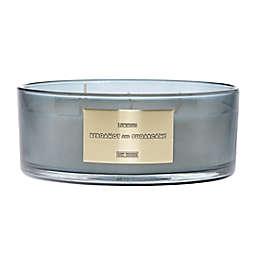 Luminous Bergamot and Sugarcane 31 oz. Extra-Large Dish Candle in Grey