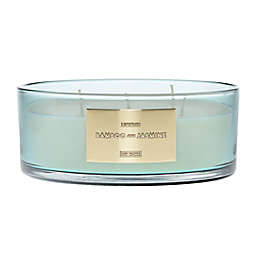 Luminous Bamboo and Jasmine 31 oz. Extra-Large Dish Candle in Green
