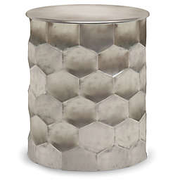 SimpliHome® Whitney Metal Side Table in Antique Silver