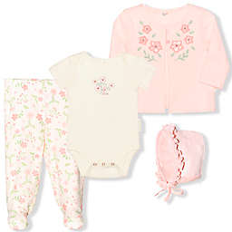 Tahari Floral Bonnet Footed Pant Set in Pink