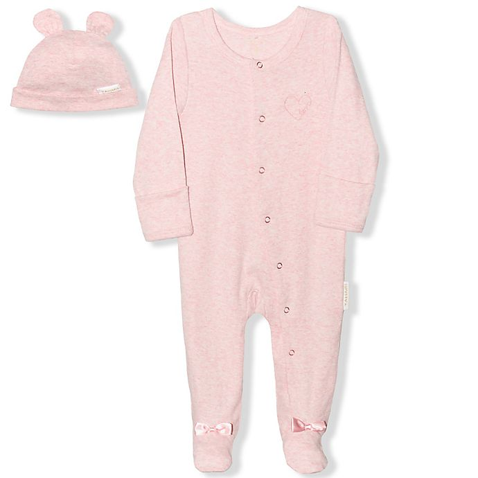 Alternate image 1 for Tahari Rib Footie with Hat in Pink