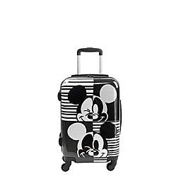 ful® Disney® Mickey Mouse 21-inch Hard Side Carry On Spinner Luggage in Black/White